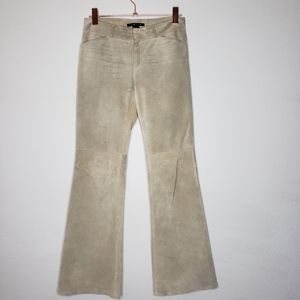 THEORY Suede Leather pants fully lined nude size 4
